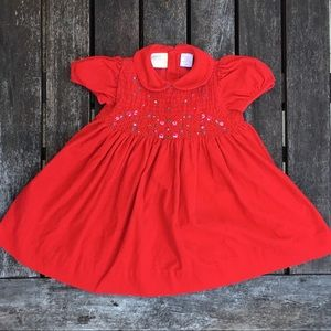 18m Carriage Boutique Hand-Smocked Christmas Dress
